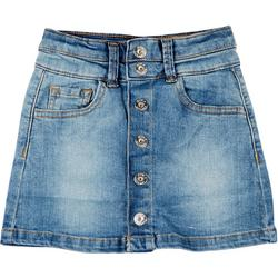Little Girls Button Down Denim Skirt