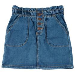 Big Girls Paper Bag Denim Skirt