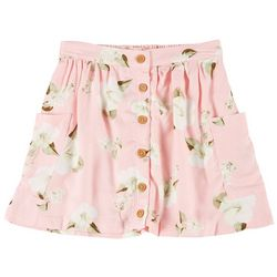 Jessica Simpson Big Girls Floral Button Front Skirt