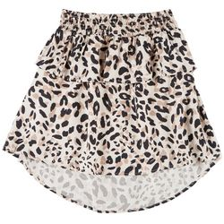 Jessica Simpson Big Girls Leopard Print Tiered Skirt