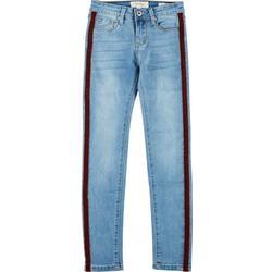 Big Girls Velvet Side Taping Denim Jeans