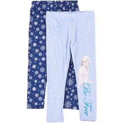 's Frozen Little Girls 2-pc. Wintery Pull-On Leggings
