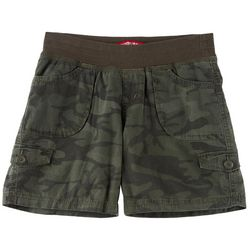 Big Girls Camo Print Macky Convertible Midi Shorts