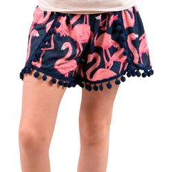 Big Girls Flamingo Shorts