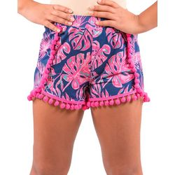 Big Girls Tropical Leaf Shorts
