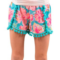Simply Southern Big Girls Tropical Floral Shorts