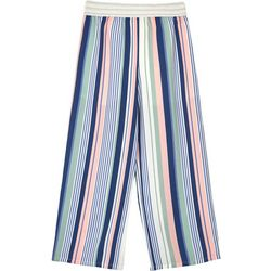 Amy Byer Big Girls Striped Wide Leg Pull-On Pants