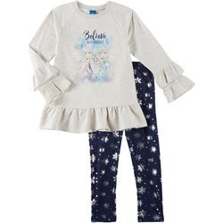 Disney Frozen II Little Girls 2-pc. Believe Leggings