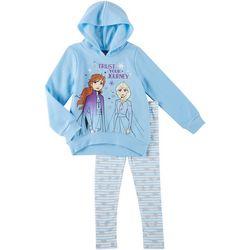 Disney Frozen II Little Girls Trust Your Journey Hoodie Set