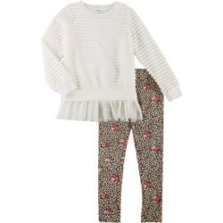 Forever Me Big Girls 2-pc. Stripe Plush Leggings Set