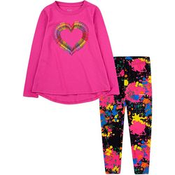 Crayola Little Girls 2-pc. Heart Legging Set