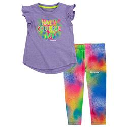 Little Girls 2-pc. Have A Colorful Day Leggings Set