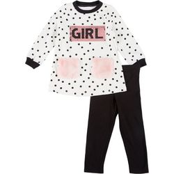 Bonnie Jean Little Girls 2-pc. Power Leggings Set