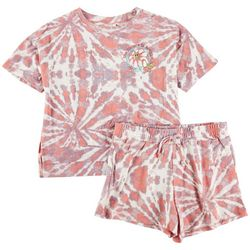 Self Esteem Big Girls 2-pc. Tie Dye Flower Short Set