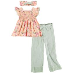 Little Lass Little Girls 3-pc. Wide Leg Pant Set