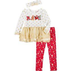 Little Girls 3-pc. Christmas Leggings Set