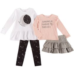 Freestyle Little Girls 4-pc. Sparkle Shine Leggings Set