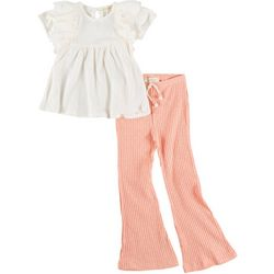 Jessica Simpson Little Girls 2-pc. Striped Pant Set