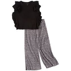 Jessica Simpson Big Girls Solid Top & Leopard
