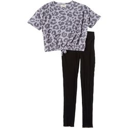 Jessica Simpson Big Girls Leopard Print Top & Leggings