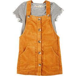 Little Girls Skirtall & Stripe Tee