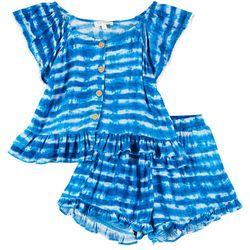 Big Girls 2-pc. Tie Dye Shorts Set