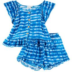Big Girls 2-pc. Tie Dye Shorts Set