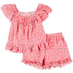 Jessica Simpson Big Girls 2-pc. Floral Shorts Set