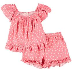 Big Girls 2-pc. Floral Shorts Set