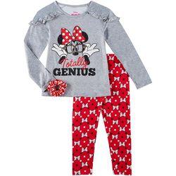 Disney Minnie Mouse 3-pc Little Girls Bow Print Leggings Set