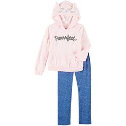 Nanette Little Girls 2-Pc. Purrrfect Leggings Set