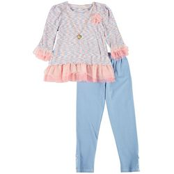 Nanette Little Girls 2-pc. Abstract Long Sleeve Top