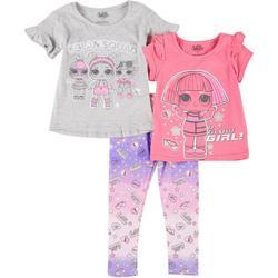 Little Girls 3-pc. Glam Squad Pajama Set