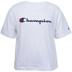 Champion Womens Solid Sport Logo Crop Top