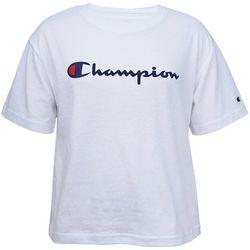 Champion Womens Solid Sport Logo Crop Top