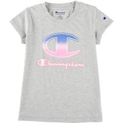 Big Girls Ombre Script Logo Short Sleeve T-Shirt