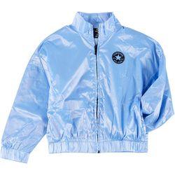 Converse Big Girls Solid Windbreaker Jacket