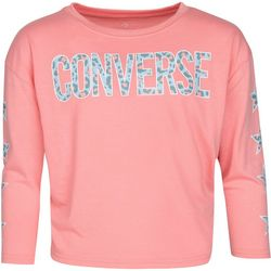 Converse Big Girls Long Slevee Leopard Star Tee