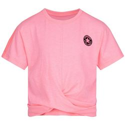 Converse Big Girls Short Sleeve Twist Front Tee