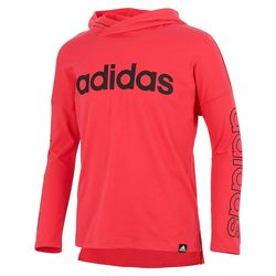 Adidas Big Girls Long Sleeve Solid Hooded Tee