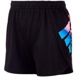 Adidas Big Girls Logo Mesh Shorts