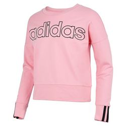 Adidas Big Girls Long Sleeve 3-Stripe Sweatshirt