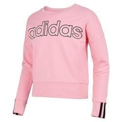 Big Girls Long Sleeve 3-Stripe Sweatshirt