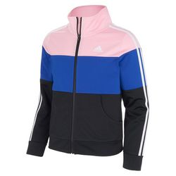 Adidas Big Girls Colorblock Tricot Jacket