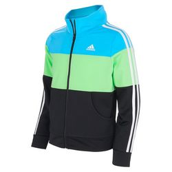 Adidas Big Girls Colorblock Zip Jacket