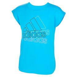 Adidas Big Girls Short Sleeve Side Slit Logo T-shirt