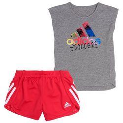 Adidas Little Girls Soccer Shorts Set
