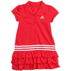 Adidas Little Girls Ruffled Polo Dress