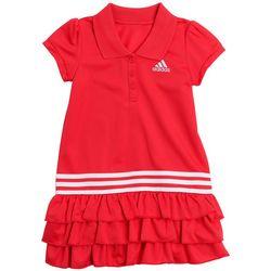 Little Girls Ruffled Polo Dress