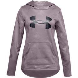 Big Girls Long Sleeve Textured Logo Hoodie